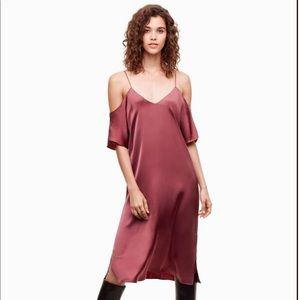 Aritzia Wilfred Plum Silky Dress